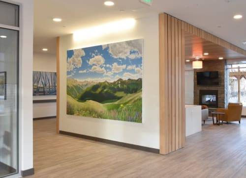 Paintings by Jason T. Graves seen at Crossing Pointe North Apartments, Thornton - Independence Pointe