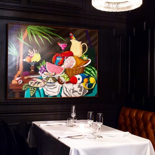 Paintings by Casey Gray seen at Californios, San Francisco - Artwork - Still Life with Surf & Turf