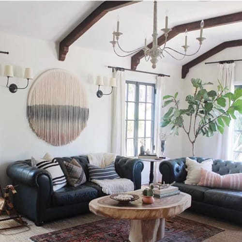 Wall Hangings by Lauren Williams at Private Residence, Los Angeles - Circle Tapestry