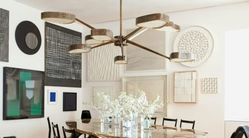 Chandeliers by Achille Salvagni seen at Park Avenue Triplex Penthouse, New York - Octopus chandelier