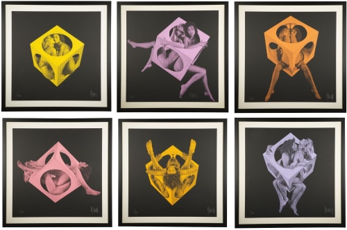 Art & Wall Decor by Jean-Pierre Vasarely (Yvaral) at The Vine, New York - Double Six 1972