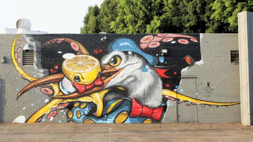 "Street Murals by Greg ""Craola"" Simkins seen at Graphaids Art Supply, Culver City, Culver City - Graphaids"