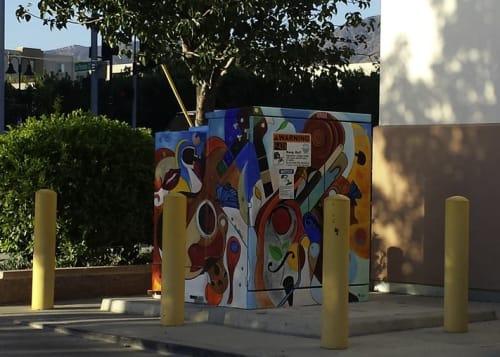 Murals by Alexandra Kube seen at Robert R. Ovrom Park and Community Center, Burbank - Taking Flight