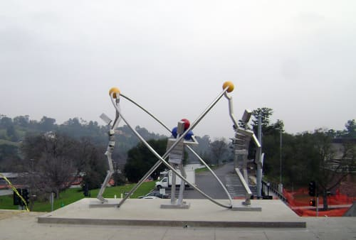 Sculptures by James Moore seen at Foothill College, Los Altos Hills - Helium