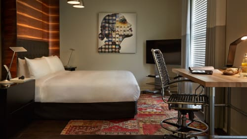 Rugs by Alarwool seen at Hotel Zetta, San Francisco - Patchwork Carpets