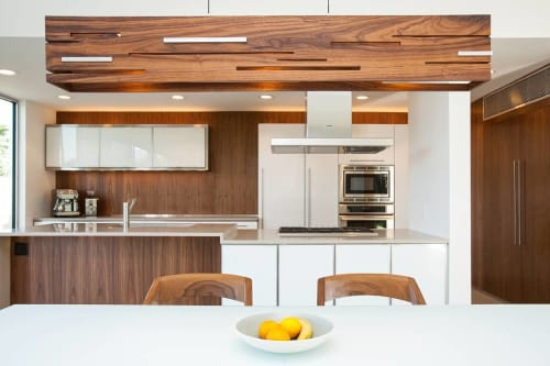 Pendants by Cerno seen at Private Residence, Palm Springs - Aeris Linear Pendant