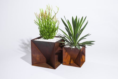 Vases & Vessels by Trey Jones Studio seen at 1424 11th Ave, Seattle - Copper Origami Planters