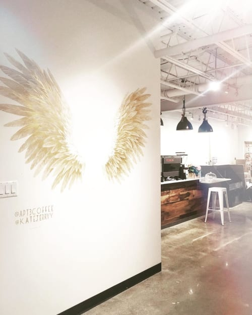 Murals by Katelyn Morse Fine Art seen at Apt3 Coffee, Lower Sackville - Angel Wing Mural
