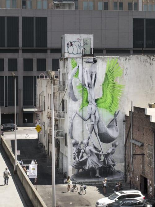 Street Murals by Ludo seen at Improv Alley, Sacramento - Girl Power