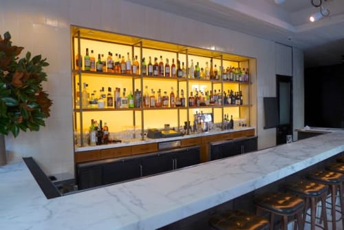 Tables by Gachot Studios seen at Little Park, New York - Marble Bar Top