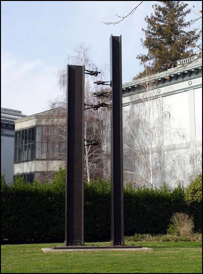 Sculptures by Cedric Wentworth seen at Crocker Art Museum, Sacramento - Jacob's Ladder