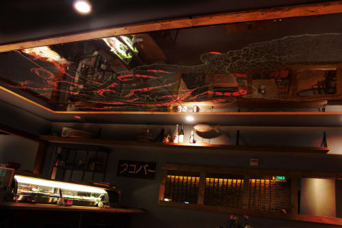 Murals by Tyler Wintermute seen at Takoba Sushi, San Francisco - Octopus