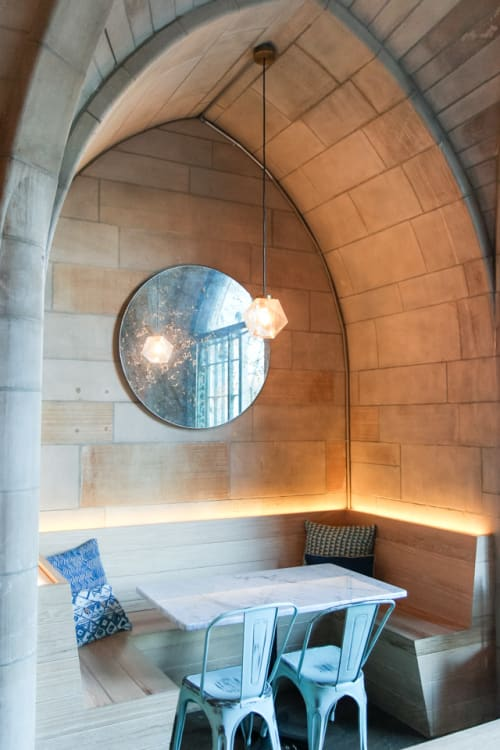 Interior Design by Caswell Design Group seen at Bluestone Lane, New York - Mirror