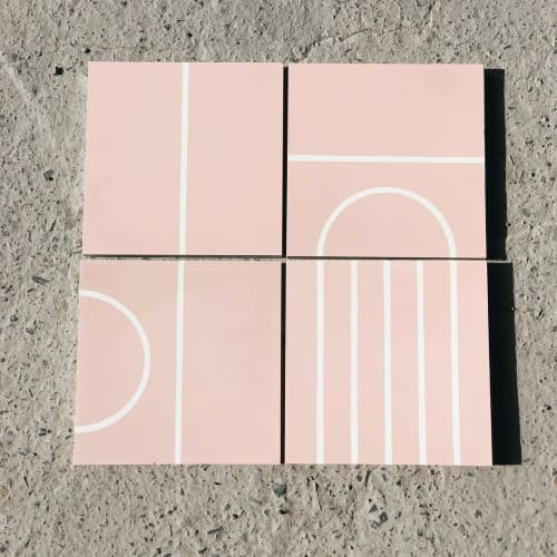 Tiles by concrete collaborative seen at Festoon LA, Los Angeles - SSS x CC Tiles