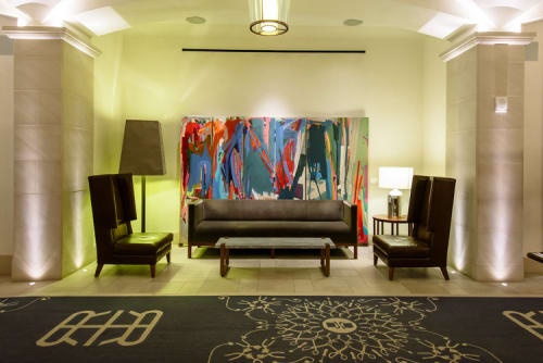 Paintings by Diana Delgado Studio seen at Refinery Hotel, New York - The Happening II