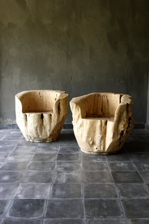 Chairs by Blaxsand seen at 1 Hotel South Beach, Miami Beach - Tamarind Hollowed Root Chair