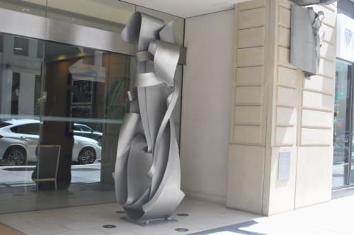 Public Sculptures by Albert Paley seen at 199 New Montgomery, San Francisco - Volute