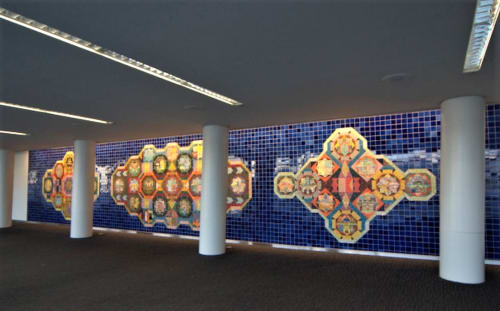 Murals by Joyce Kozloff seen at San Francisco International Airport, San Francisco - Bay Area Victorian, Bay Area Deco, Bay Area Funk