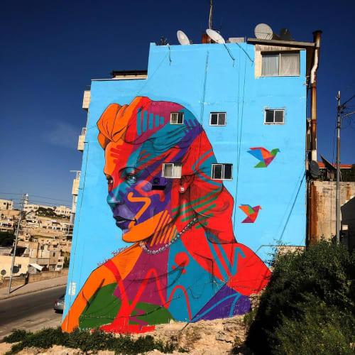 Street Murals by Suhaib Attar Artwork seen at Amman, Amman - Nemat Al Mufti mural