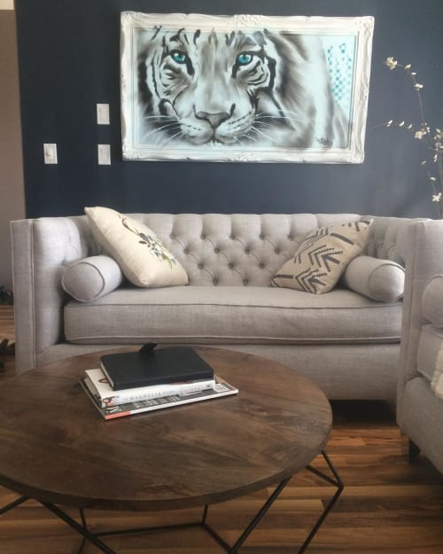 Paintings by Fasm Creative seen at Medicine Hat, Alberta, Medicine Hat - Tiger