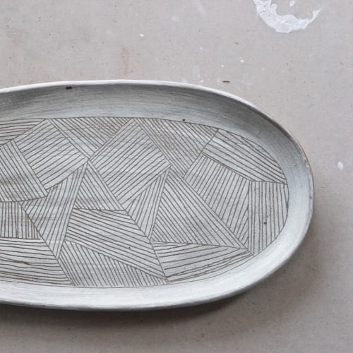 Ceramic Plates by Nicky Crowley at Pony Rider, Mona Vale - Field Platter