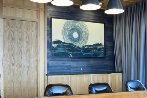 Paintings by Heather Goodwind seen at Hotel Indigo El Paso Downtown, El Paso - Harvest Moon