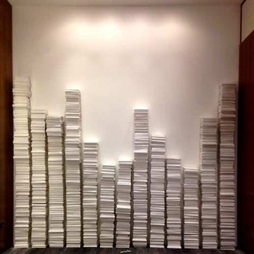 Sculptures by Anna Nelson seen at Renaissance Chicago Downtown Hotel, Chicago - Book Wall