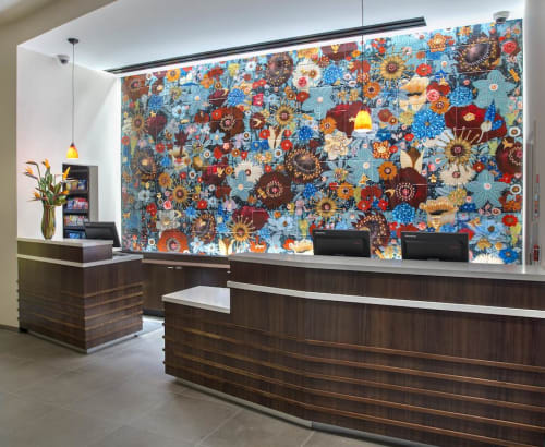 Murals by Coral Bourgeois seen at Courtyard by Marriott New York Manhattan/Chelsea, New York - Chelsea Flowers
