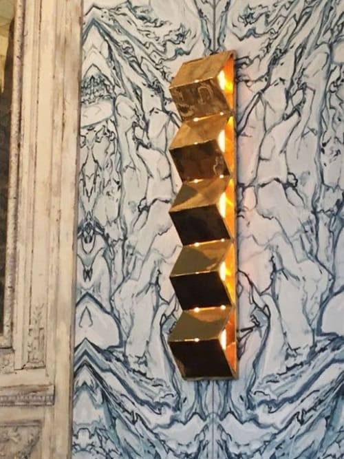 Sconces by Atelier Bespoke seen at BB Blanche, Paris - Brass Wall lamp