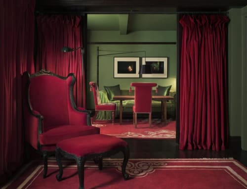 Chairs by Maarten Baas seen at Gramercy Park Hotel, New York - Smoke Wing Chair and Ottoman