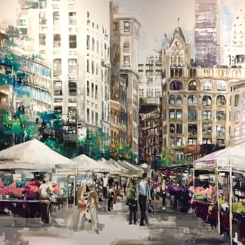 Went to  Market   Paintings by Ashley Sullivan