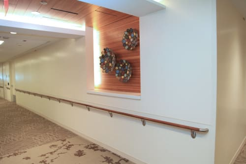 Sculptures by Madacsi Studios seen at Long Island Jewish Medical Center, Queens - LIJH Sculpture