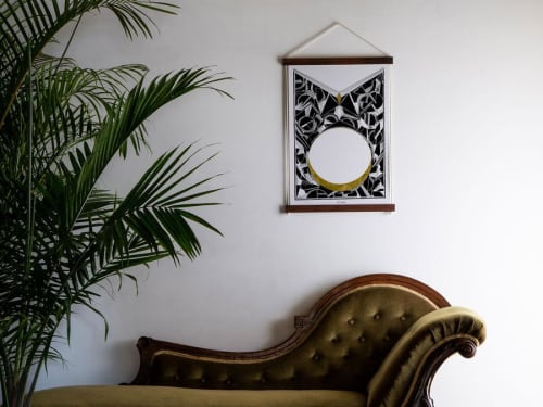 Wall Hangings by Chrysa Koukoura seen at Private Residence, Melbourne - Dry Moon