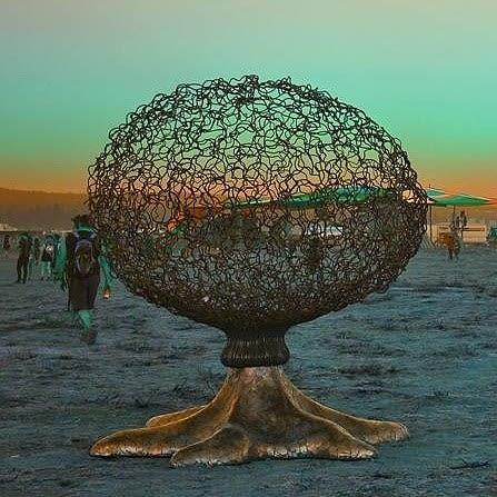 Public Sculptures by Michael Christian seen at Big Summit Prairie - Asterpod