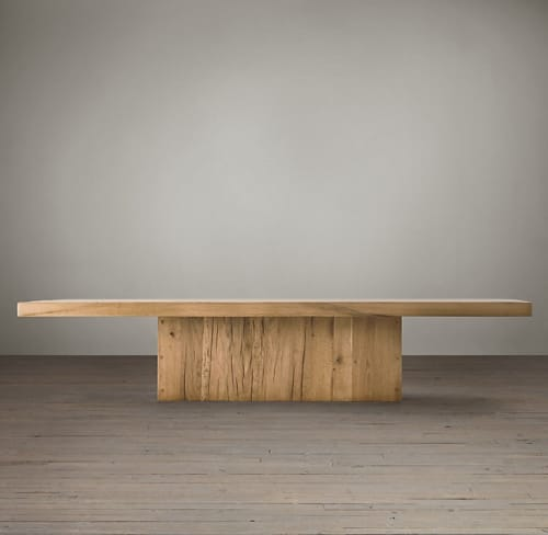 Tables by Restoration Hardware at 11 Howard, New York - Reclaimed Russian Oak Plinth Coffee Table