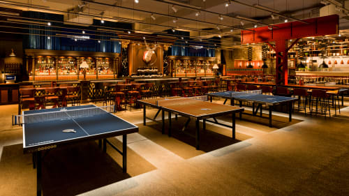 AceBounce Ping Pong Bar & Restaurant Chicago, Bars, Interior Design