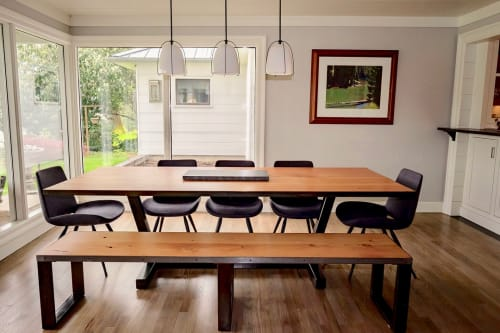 Tables by LR Design Co. seen at Private Residence, Portland - Custom Table with Bench