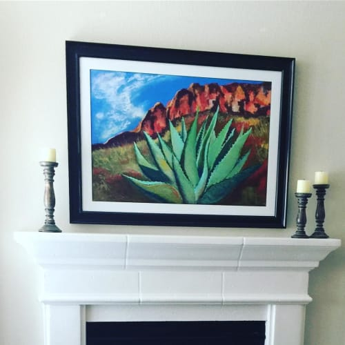 Paintings by Carol Arnold seen at Private Residence, Kerrville - The Window Trail