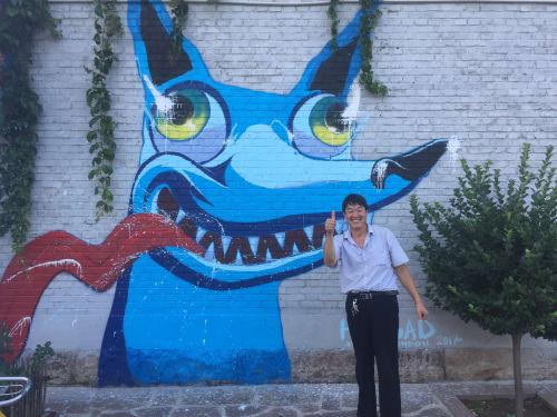 Street Murals by Himbad seen at Xucun Village,  Shanxi China - Hungry