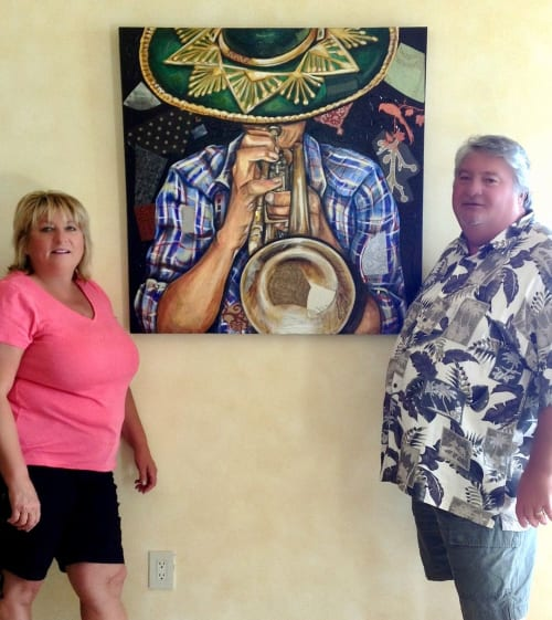 Paintings by Art by KVK seen at Private Residence - Vaquero de the Trumpet