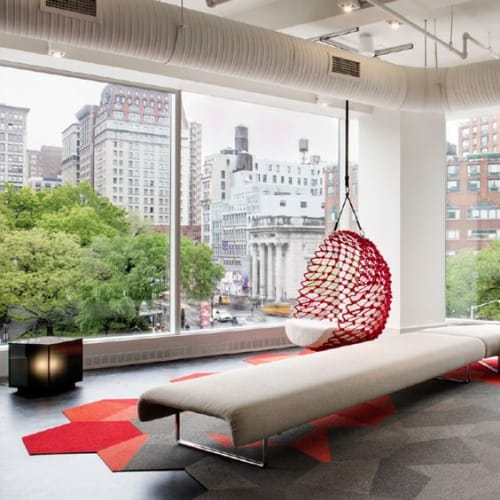 Chairs by Kenneth Cobonpue seen at Shaw Contract, New York - Dragnet Swing