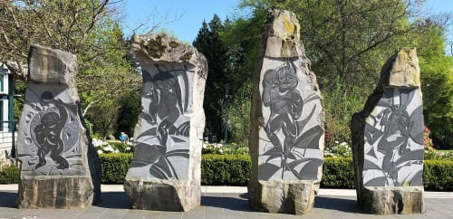 Public Sculptures by Thomas Cannell seen at Deer Lake Park, Burnaby - Vitality