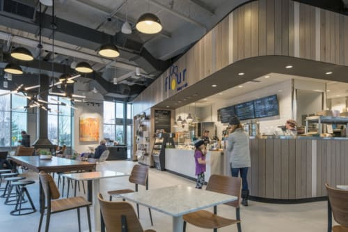 Interior Design by Hacin + Associates at Flour Bakery + Cafe, Cambridge - Interior Design
