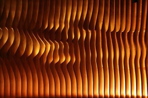 Wall Treatments by Matsys seen at Roka Akor San Francisco, San Francisco - Bar Textured Art Wall