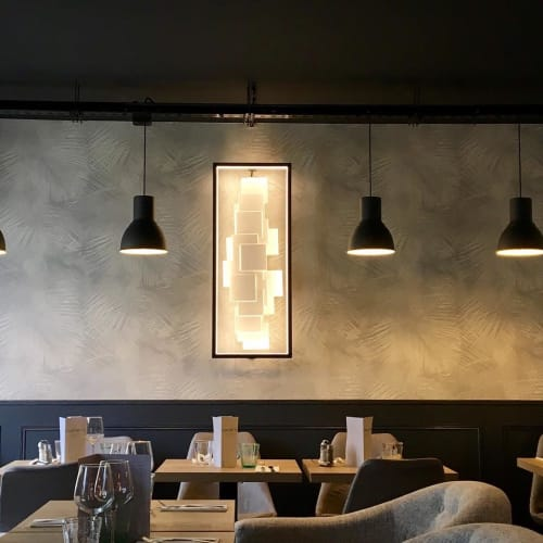 Lighting by CINIER seen at Le Notre Dame Café, Rungis - Cinier Sculptural LT