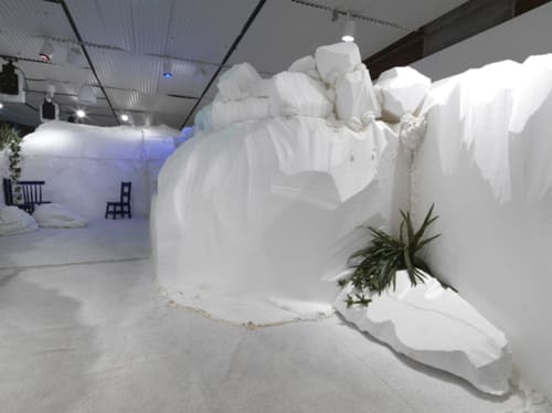 Sculptures by Sabina Ott seen at Hyde Park Art Center, Chicago - who cares for the sky?