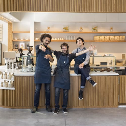 Aprons by Matt Dick - Small Trade Company at Blue Bottle Coffee, Oakland - Workwear