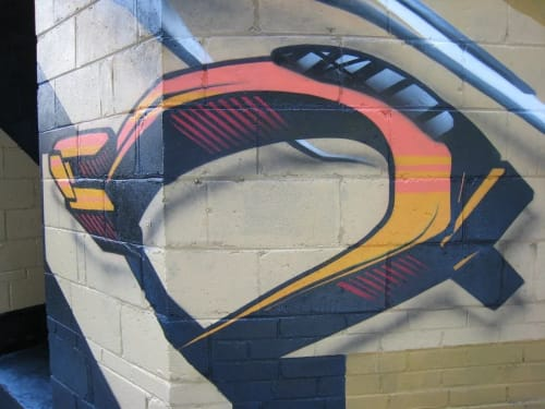 Murals by Christian Toth Art seen at Teeple Architects, Toronto - Mural