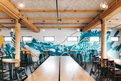 Murals by Heather Day seen at Joinery, Beerhall, Sausalito - Joinery Mural