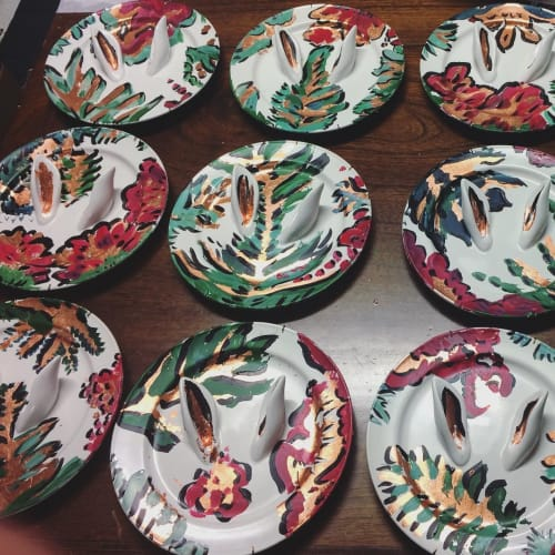 Art & Wall Decor by Deming Harriman seen at No. 3 Social, Miami - Tropical Bunny Plates